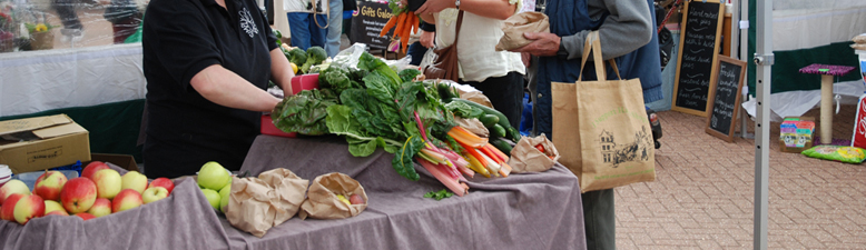Photo of market vegetable stall